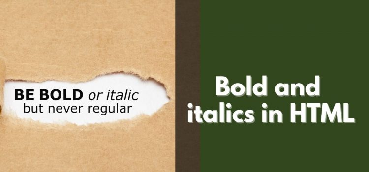 Bold and italics in HTML