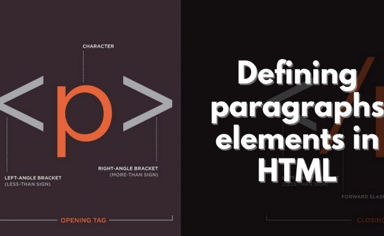 Defining paragraphs elements in HTML